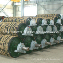 Rubber Coat Head Drum, Tail Drum, Belt Conveyor Pulley