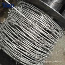 Preço de fábrica 200m 400m rolo 1.7mm 1.8mm 2mm fio arame farpado filipinas