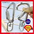 A204-KTL Schwenkbarer Aluminium-Sicherheits-Haken-Karabiner mit Triple Rod