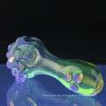 Glas-Rauch-Löffel für Rauch mit lila Schleim-Punkten (ES-HP-064)