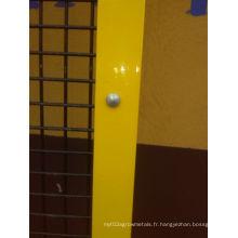 Clôture en acier à angle soudé pour machine / robot