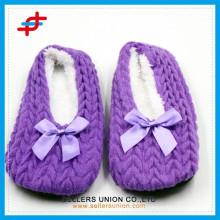 Fashion Heel gestrickte Obere Indoor Slipper für Frauen und Mädchen
