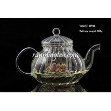 Жаропрочный жаропрочный боросиликатный сквош Форменный стеклянный чайник / чайный горшок