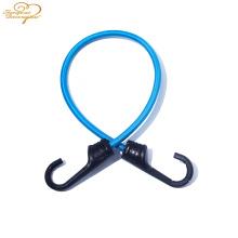 Горячий продавать сильный полиэстер эластичный багажа веревка пластиковый крюк металлический крюк