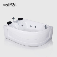 Cocoon Acrylic Whirlpool Corner Tub in White