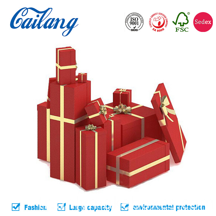 christmas two pieces paper boxes with lid