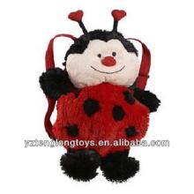 Factory Wholesale Animal Shaped Plush Backpack Ladybug Backpack