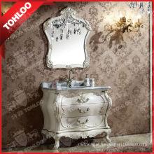 Armário de banheiro antigo com dissipador e espelho da tira de 5mm