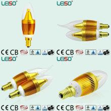 Único 5W CREE Chip Scob E14 Lâmpada LED Vela (LS-B305-GB)