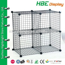 collapsible wire storage cube,wire mesh cage grid panel,DIY folding wire mesh cage