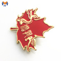 Customized Soft Enamel Red Maple Leaf Pin Badge