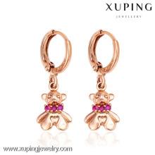26891- Xuping Young Lady Jewelery Brincos Urso Adorável