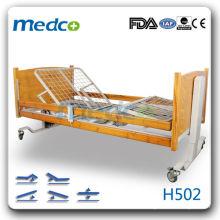 MED-H502 Горячий! Пять функций: больничная кровать для больниц с колесами
