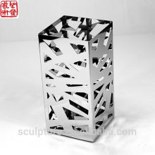 2016 New Art Potiche Stainless Steel Modern Abstract Flower Vase Home Decoration