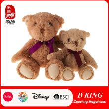 Personalized Christmas Baby Stuffed Plush Soft Teddy Bear with Ribbon