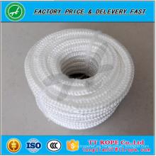 alta calidad de color blanco 16 hilos de trenzado de poliéster cuerda