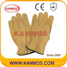 Industrial de seguridad de cuero de vaca de grano cuero conductor trabajo guantes (12204)