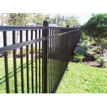 6'x8`Three Railings Flat Top Steel Fence