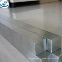 Haste quadrada de aço inoxidável SUS201 202 304 38x38mm com superfície polida