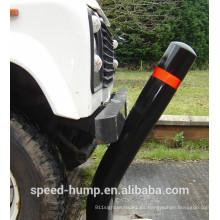 Negro de seguridad de tráfico con pines de plástico fáciles de señal de carretera.