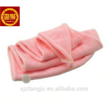 Best selling bamboo hair towel, colored hair towel, solid hair towel