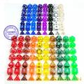 18 différentes couleurs assorties Colored Polyhedral RPG Dice Set 126pcs