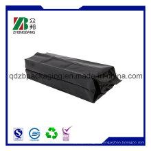 12oz 14oz 16oz Aluminium Folie Matte schwarze Seite Zwickel Kaffee Plastikbeutel Tasche