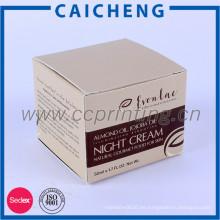 Caja de papel de empaquetado cosmética de papel de impresión personalizada del producto