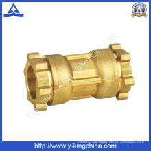 Messing-Kupplungsrohrverschraubung mit Kompressionsenden (YD-6051)