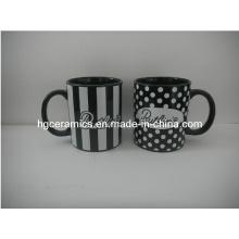 11oz Decal Printed Black Mug, Promotional Mug