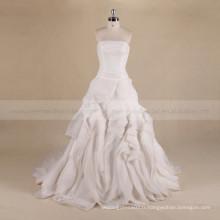 Robe de mariée A-Line à encolure décorative