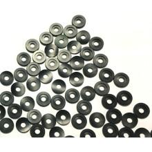 CNC-Drehteile aus Aluminium mit schwarzer Eloxierung