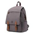 Saco de mochila de escola de lona com porta USB