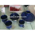 Emaille Metall Becher / Emaille Camping Becher / Emaille Tasse / Emaille Platte