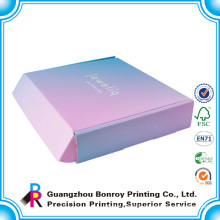 Custom design logo printed rigid corrugated mailing box,post box