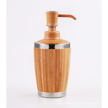 Bamboo Bathroom Lotion Dispenser for Liquid Soap, Shampoo