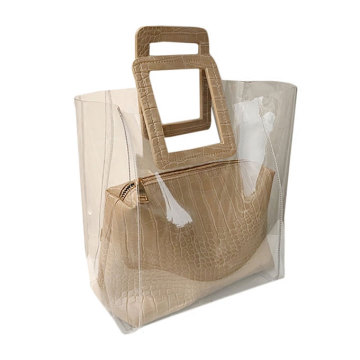 Sac à main en plastique PVC Lady Travel Beach transparent