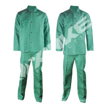 Pass EN11611 Green flame resistant welding suit for America Market