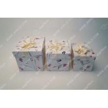 Caja de regalo de papel de papel de sombrero de pétalo tailandés