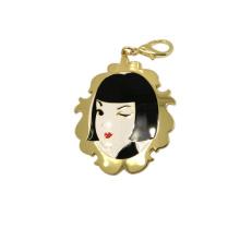 Handbag Hardware with Hook Custom Women Metal Keychain