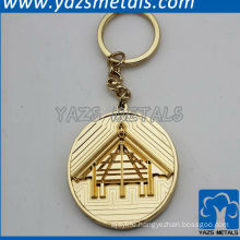 Antique coin house shaped keychain