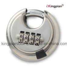 Stainless Steel Digit Code Combination Round Padlock