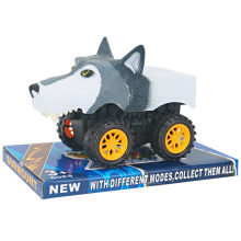 Juguete divertido del coche del lobo de la historieta animal