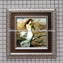 Shabby Framed Sexy Nude mulher pintura a óleo