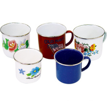 Colorful Enamel Mug with Decal
