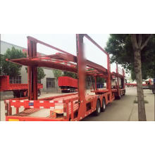 Semi-reboque de transporte de veículo com porta-carros longo
