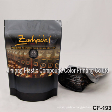 Plastic Coffee Pouch with Zipper