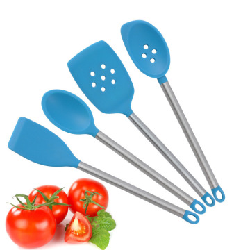 Peralatan Dapur Silicon SS Slotted Turner Utensils Set