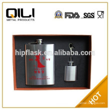 gift set stainless steel hip flask manufacture trade assurance supplier