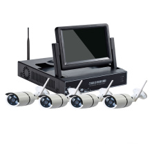 7.0 inch LCD 4CH 8CH wireless CCTV camera NVR kit wifi camera kit